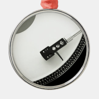 Aiguille de tourne-disque de plaque tournante de ornement rond argenté