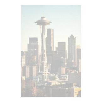 Aiguille du centre d'horizon et d'espace de Seattl Papier À Lettre Customisé