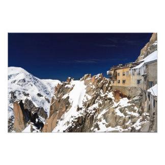 Aiguille du Midi - massif de Mont Blanc Tirage Photo