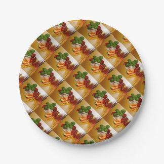 Ail de tomates de Basil de poivrons Assiettes En Papier