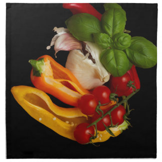 Ail de tomates de Basil de poivrons Serviettes En Tissus