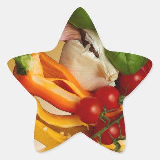 Ail de tomates de Basil de poivrons Sticker Étoile