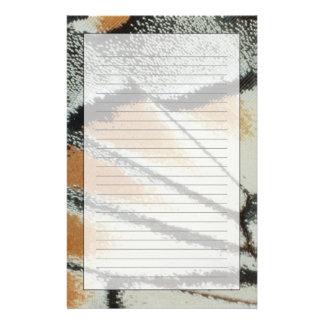 Aile 2 de papillon papier à lettre customisé
