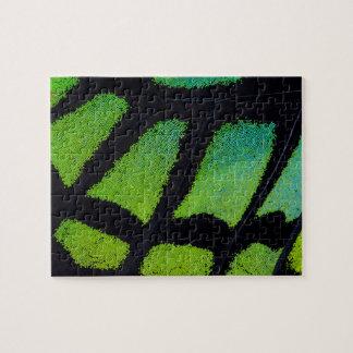Aile de papillon de vert et de noir de chaux puzzle