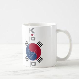 AILE DU NEZ CORÉE DE K-POP MUG À CAFÉ
