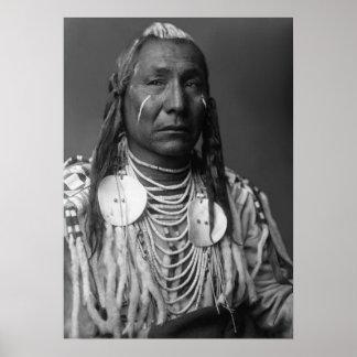 Aile rouge (homme de Natif américain) Affiches