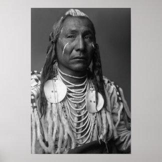 """Aile rouge (homme de Natif américain """" Affiches"""