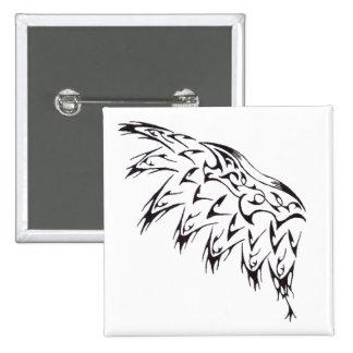 Aile tribale de tatouage badge carré 5 cm