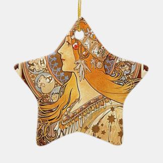 Aileron avec les cheveux rouges ornement étoile en céramique