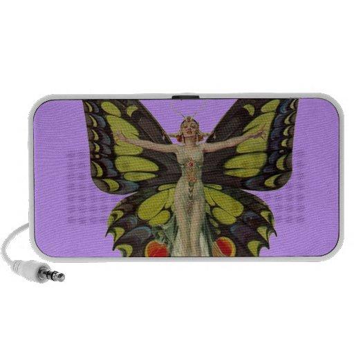 aileron des années 1920 dans des ailes de papillon haut-parleur iPhone