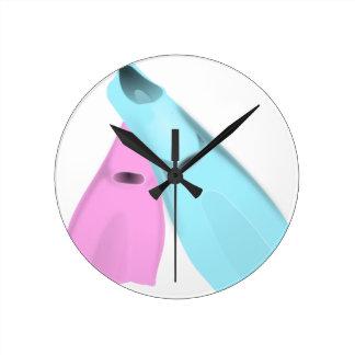 Ailerons de natation horloge ronde