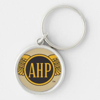 Ailes d'AHP - couleur Porte-clé Rond Argenté