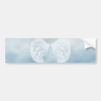 Ailes d'ange en ciel bleu nuageux autocollant pour voiture