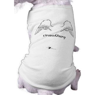 Ailes de chien d'ange personnalisées t-shirt pour chien