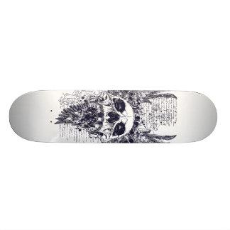 Ailes de conception de tatouage de planche à plateaux de skate