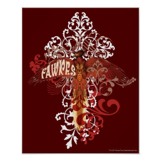 Ailes de diffusion de Fawkes Affiche