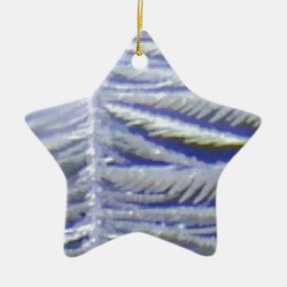 ailes de glace ornement étoile en céramique
