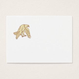 Ailes de vol d'Eagle chauve baissant Cartes De Visite