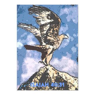 Ailes d'Eagles - 40:31 d'Isaïe Carton D'invitation 12,7 Cm X 17,78 Cm