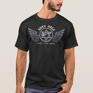 Ailes d'étoile de combat rapproché de Krav Maga T-shirt