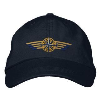 Ailes du nord de pilote de boussole d'étoile casquette brodée