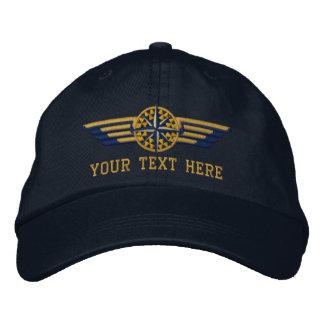 Ailes du nord personnalisées de pilote de boussole casquette brodée