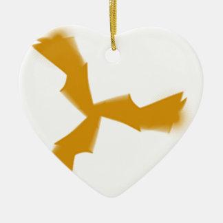 ailes ornement cœur en céramique