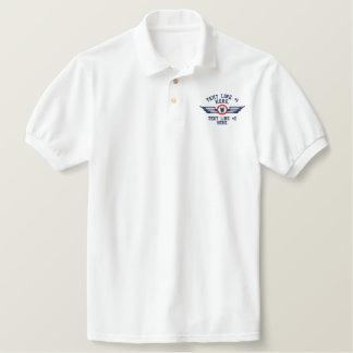 Ailes personnalisées de pilote d'insigne de polo