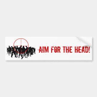 AIM POUR LA TÊTE ! bumpersticker de cible Autocollant De Voiture