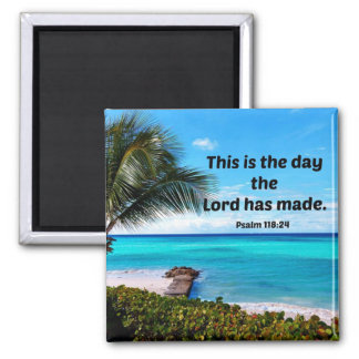 Aimant 118:24 de psaume c'est le jour où le seigneur a
