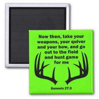 Aimant 27:3 chrétien de genèse de chasse de chasseur