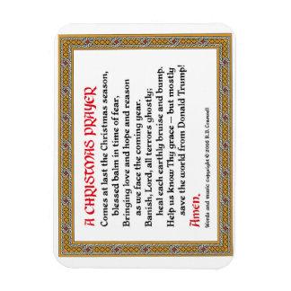 Aimant #2 de prière de Noël (Donald Trump) Magnet Flexible