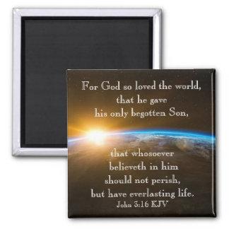 Aimant 3h16 de John - pour Dieu a ainsi aimé le monde