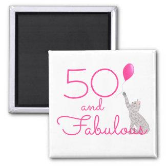 Aimant 50 et anniversaire fabuleux d'amoureux de les