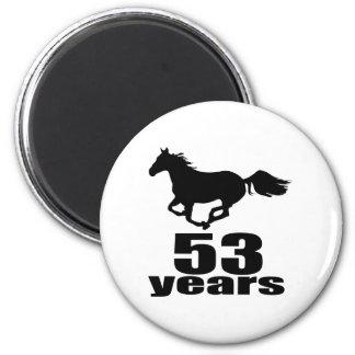 Aimant 53 ans de conceptions d'anniversaire