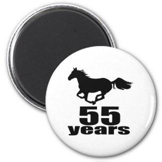 Aimant 55 ans de conceptions d'anniversaire