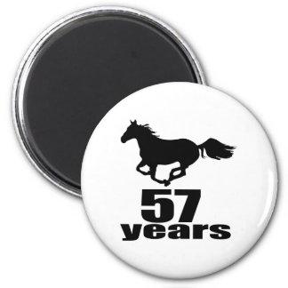 Aimant 57 ans de conceptions d'anniversaire