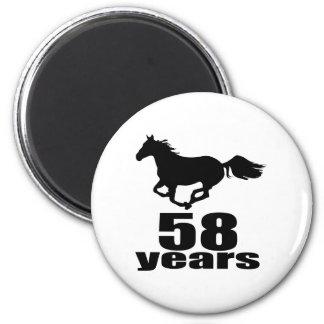 Aimant 58 ans de conceptions d'anniversaire