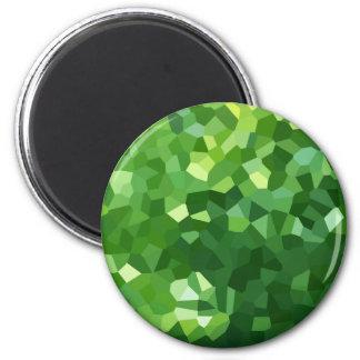 Aimant Abrégé sur vert mosaïque en verre souillé de forme
