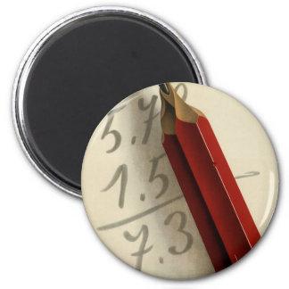 Aimant Affaires vintages, équation de maths avec le