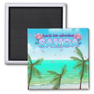 """Aimant Affiche de voyage dans aventure du Samoa """"voyage"""""""