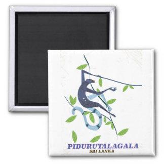 Aimant Affiche de voyage de Pidurutalagala Sri Lanka