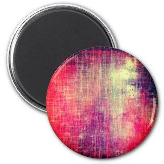 Aimant affligé multicolore de cercle de denim