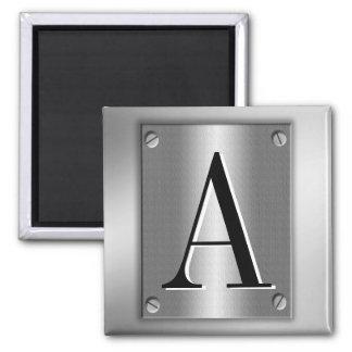 Aimant Ajoutez le monogramme sur le regard en métal avec