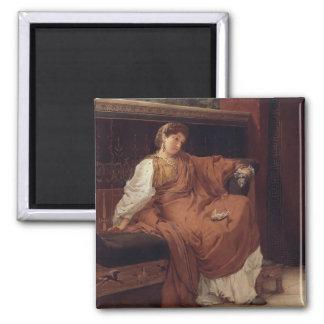 Aimant Alma-Tadema | Lesbia pleurant au-dessus d'un