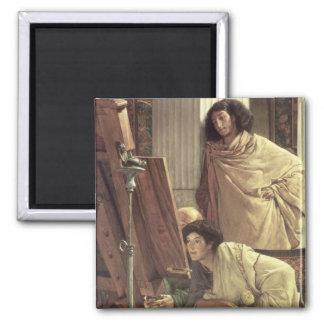 Aimant Alma-Tadema | une visite au studio, 1873