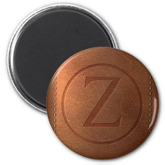 Aimant alphabet cuir lettre Z