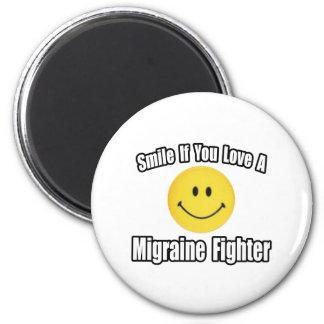 Aimant Amour de sourire… un combattant de migraine