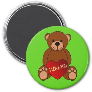 Aimant Amour u de l'aimant I de réfrigérateur d'ours de