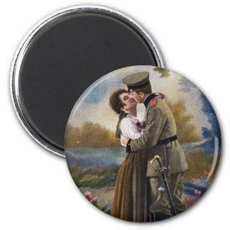 Aimant Amour vintage d'Artillerie Liebe de carte postale